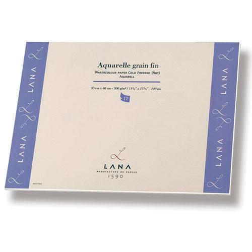 Купить Альбом-склейка для акварели Lana Lanaquarelle Fin 30х40 см 12 л 300 г, Франция