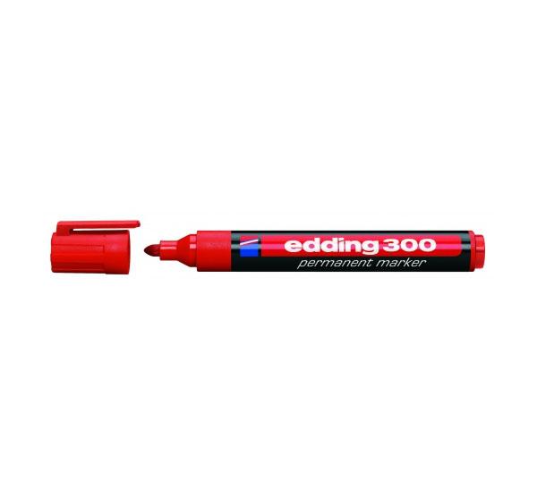 Купить Маркер перманентный Edding 300 1, 5-3 мм с круглым наконечником, красный, Германия