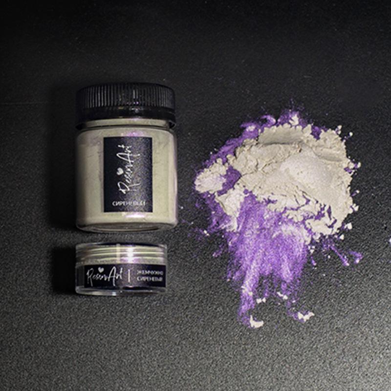 Купить Перламутровый пигмент для смолы ResinArt - жемчужно-сиреневый интерферентный 10 мл, Франция