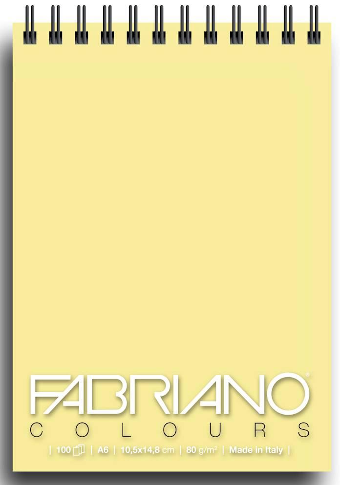 Альбом для графики на спирали Fabriano Writing Colors 105х148 см 100 л 80 г банан.