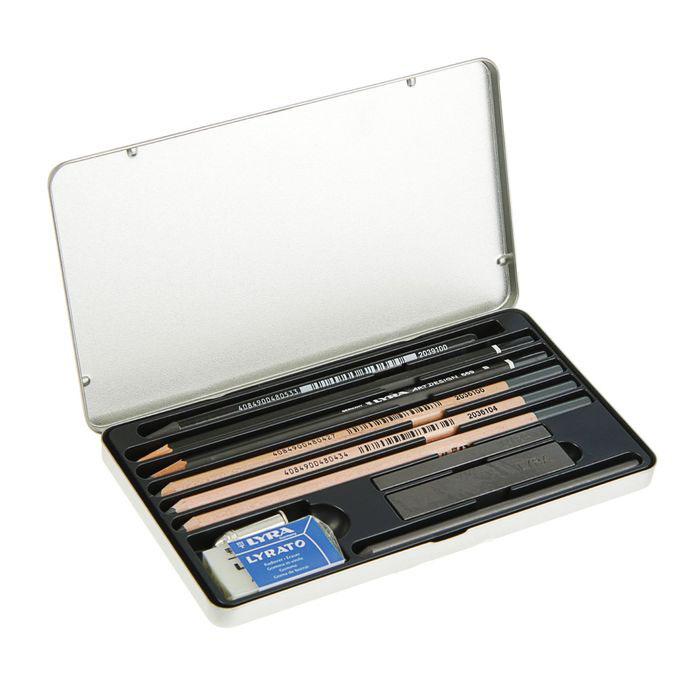 Купить Набор карандашей художественных Lyra Graphite set 11 предметов в металл коробке, Германия