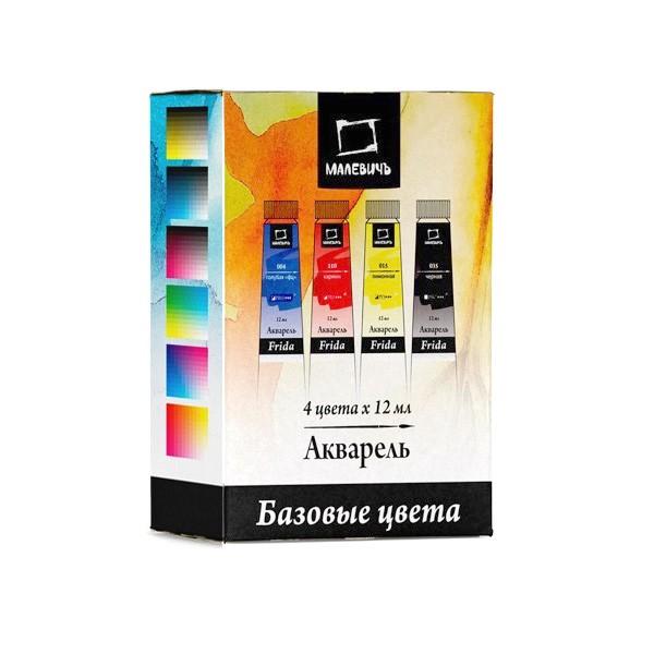 Купить Набор акварельных красок Малевичъ Frida CMYK 4 цв*12 мл, Россия