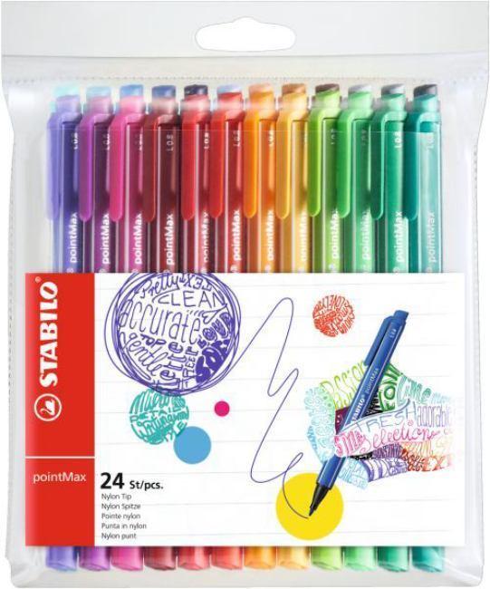 Купить Набор ручек капиллярных Stabilo PointMax 24 цв, в пластике, Германия
