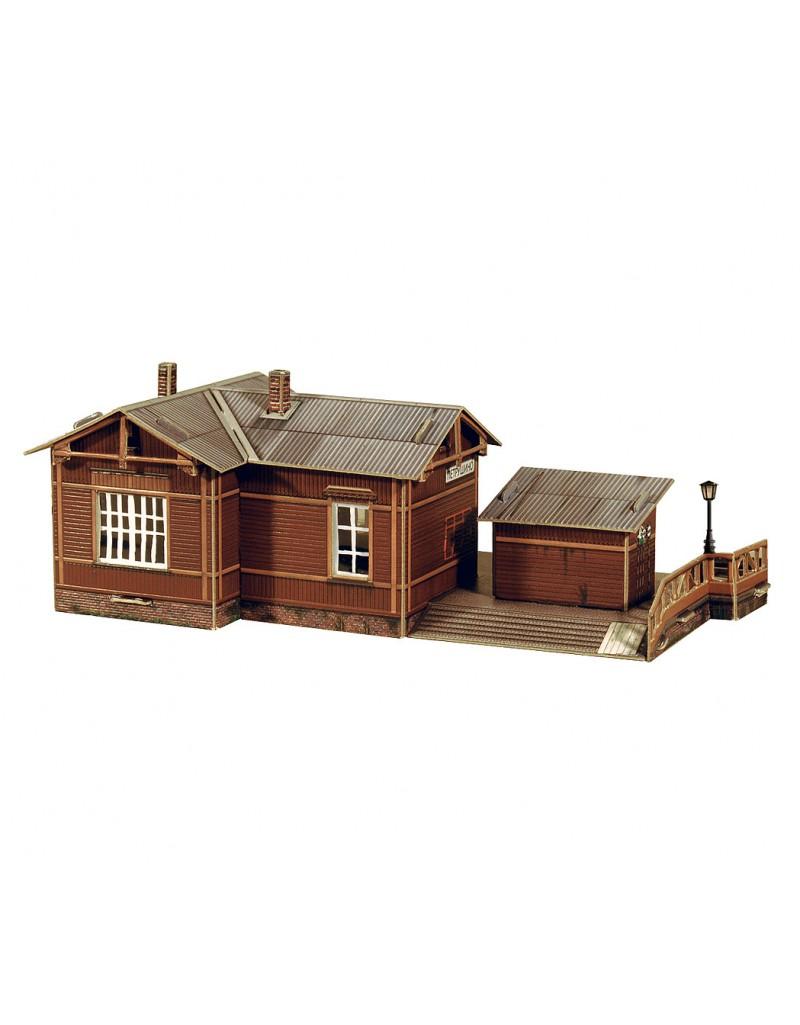 Купить Сборная модель из картона Архитектура Полустанок , Умная бумага, Россия