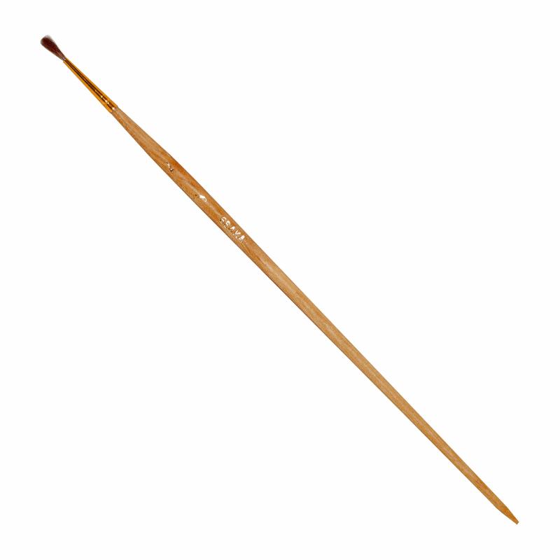 Купить Кисть белка имитация №2 круглая ЦТИ длинная ручка, Россия