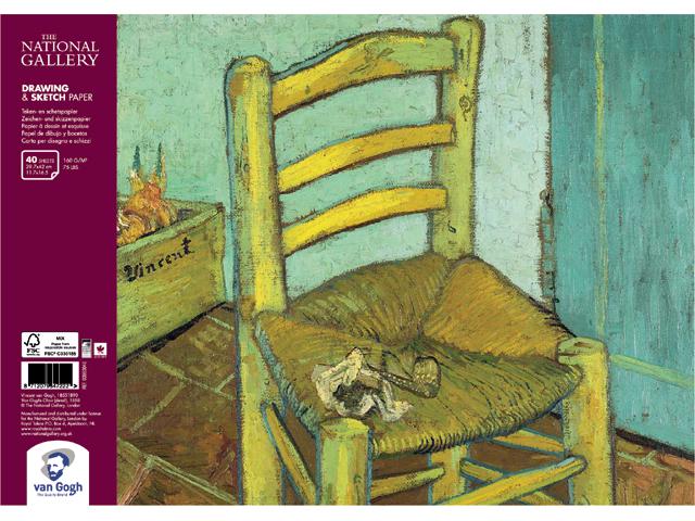 Купить Альбом на спирали для зарисовок Talens Van Gogh National Gallery А3 40 л 160 г, Royal Talens