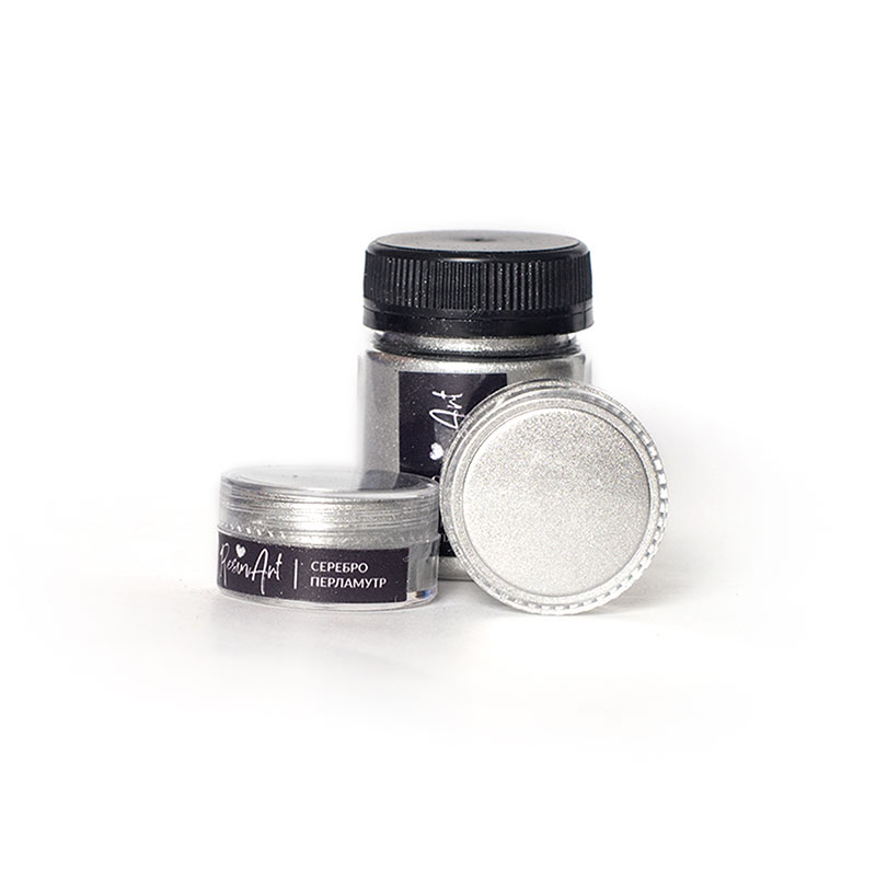 Купить Перламутровый пигмент для смолы ResinArt - серебро 10 мл, Франция