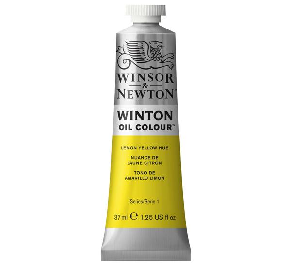 Купить Масло Winsor&Newton WINTON 37 мл желтый лимоный, Winsor & Newton
