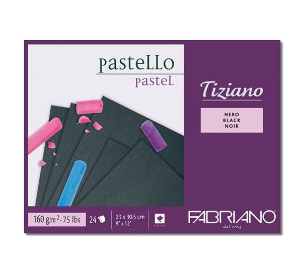 Блокнот-cклейка для пастели Fabriano Tiziano Nero 305х41 см 24 л 160 г.