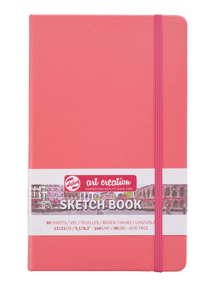 Купить Блокнот для зарисовок Art Creation 13х21 см 80 л 140 г, твердая обложка, коралловый, Royal Talens