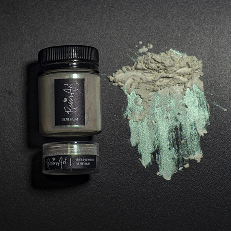 Перламутровый пигмент для смолы ResinArt - жемчужно-зеленый интерферентный 10 мл, Франция  - купить со скидкой