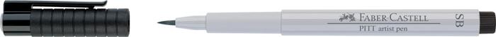 """Ручка капиллярная Faber-Castell """"Pitt artist pen"""" SB, холодный серый 1"""