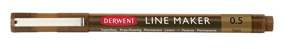 Купить Ручка капиллярная Derwent LINE MAKER 0, 5 мм, сепия