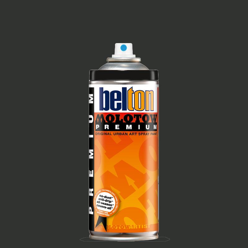 Купить Аэрозольная краска Molotow Premium belton 400 мл #222 black grey dark, Германия