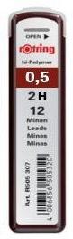 Купить Набор грифелей для механического карандаша Rotring TIKKY 12 шт 0, 5 мм, 2H, Германия