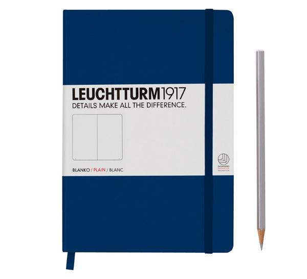Купить Книга для записей нелинованный Leuchtturm1917 MEDIUM А5 249 л темно-синий, Германия