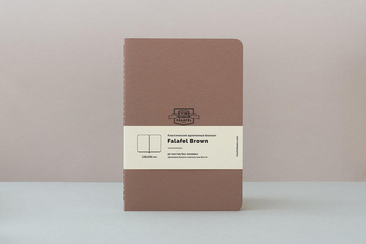Купить Блокнот FALAFEL BOOKS А5 Brown, Россия