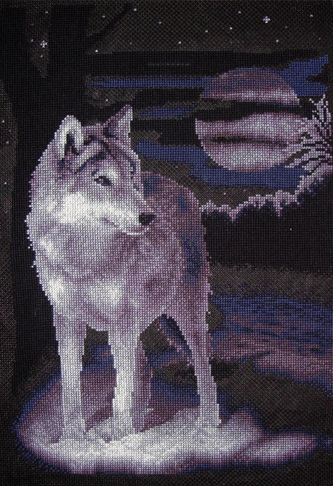 Купить Набор для вышивания PANNA Белый волк , Gamma, Россия
