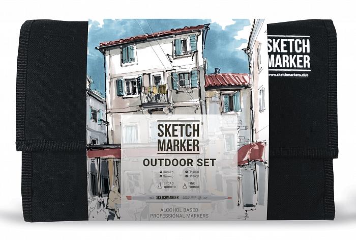 Купить Набор маркеров Sketchmarker 24 Outdoor Set- Плэнер (24 маркеров+сумка органайзер), Япония