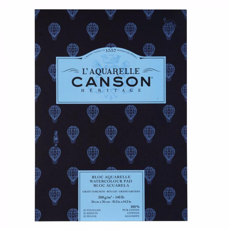 Купить Альбом-склейка для акварели Canson Heritage Torchon 26x36 см 12 л 300 г, Франция