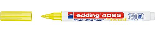 Купить Маркер меловой Edding 4085 1-2 мм с круглым наконечником, желтый неоновый, Германия
