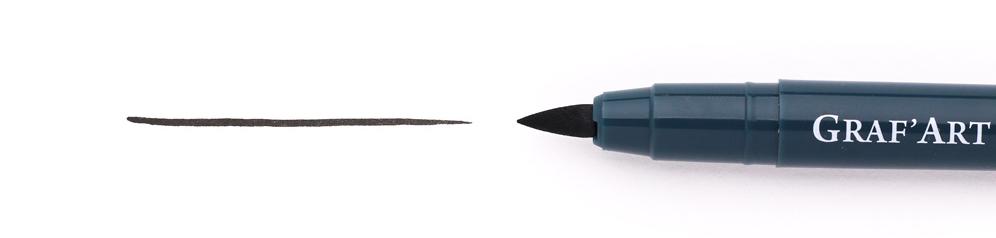 Купить Ручка капиллярная Малевичъ Graf'Art кисть толстая L, Россия