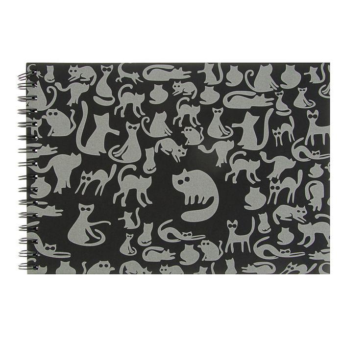 Купить Блокнот для эскизов Лилия Холдинг Ночные коты А4 40 л 160 г, Россия