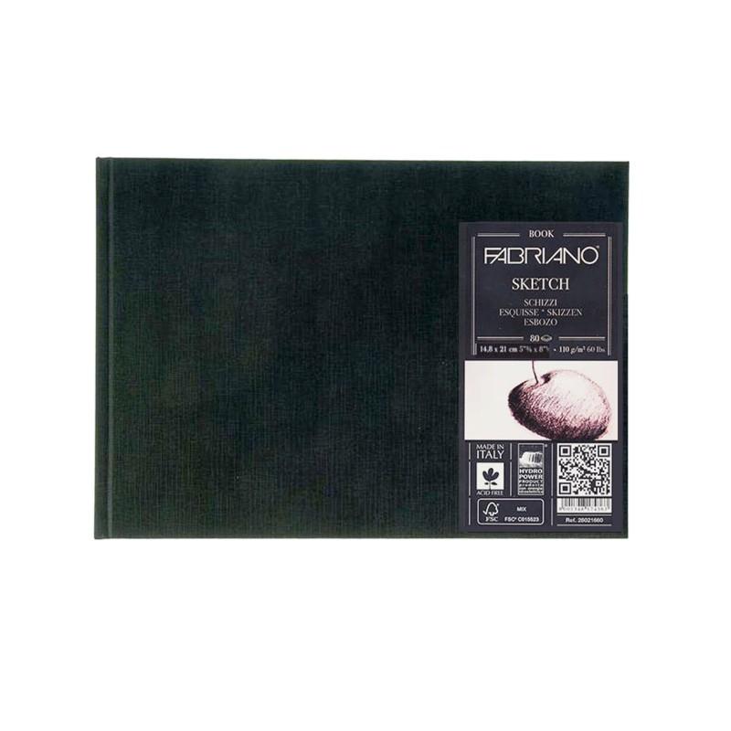 Купить Блокнот для эскизов Fabriano Sketch 14, 8x21 см 80 л 110 г твердая обложка, Италия