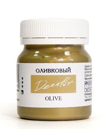 Купить Акрил ДЕКОЛОР 50 мл Оливковый перламутровый, Таир, Россия