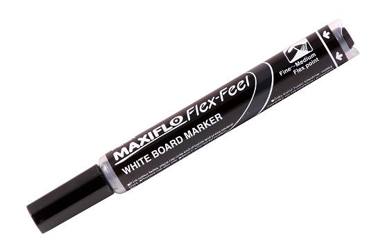 Купить Маркер для досок с жидкими чернилами и кнопкой подкачки чернил Pentel Maxiflo 1-5 мм, черный, Япония