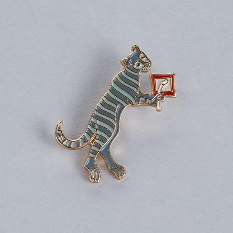 Купить Значок эмалированный Кот, Подписные издания, Россия