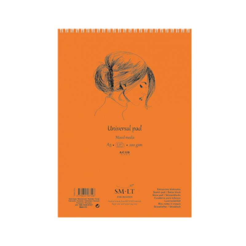 Купить Альбом для различных техник на спирали Smiltainis Universal pad А5 40 л 200 г, Литва