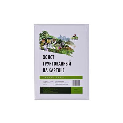 Купить Холст грунтованный на картоне 280 г 18x24 см хлопок 100%, Китай