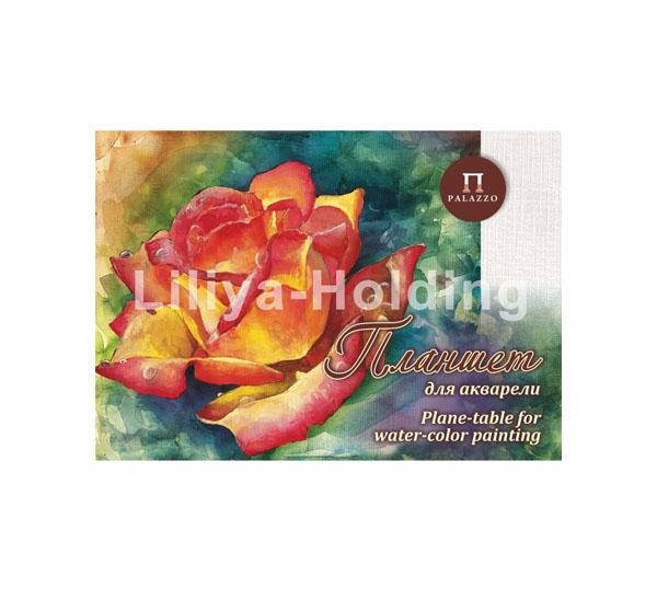 Купить Планшет для акварели Лилия Холдинг Чайная роза А4 20 л 200 г холст, Россия