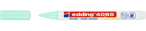 Купить Маркер меловой Edding 4085 1-2 мм с круглым наконечником, зеленый пастельный, Германия
