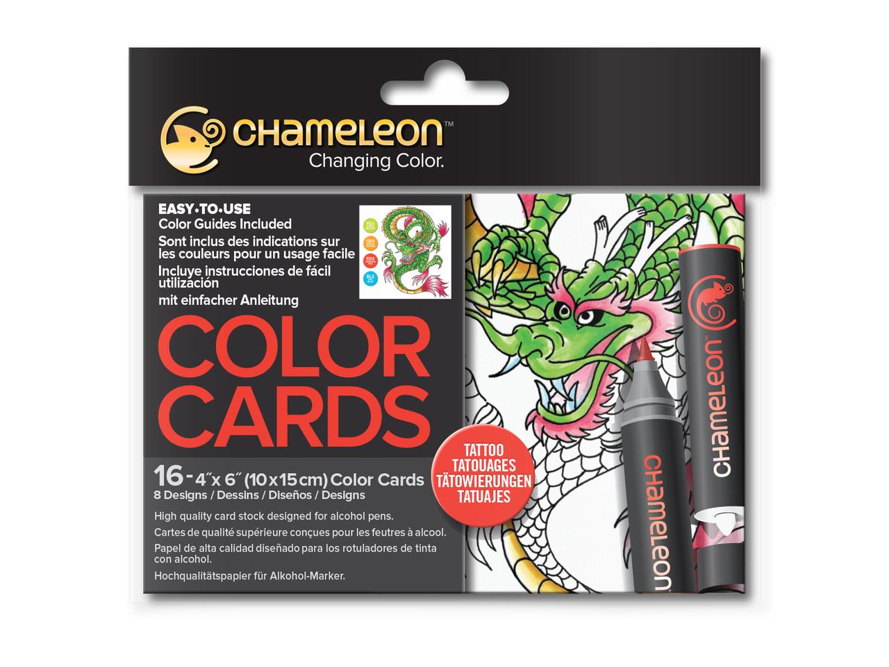 Раскраска-склейка Chameleon Tattoo Татуировка