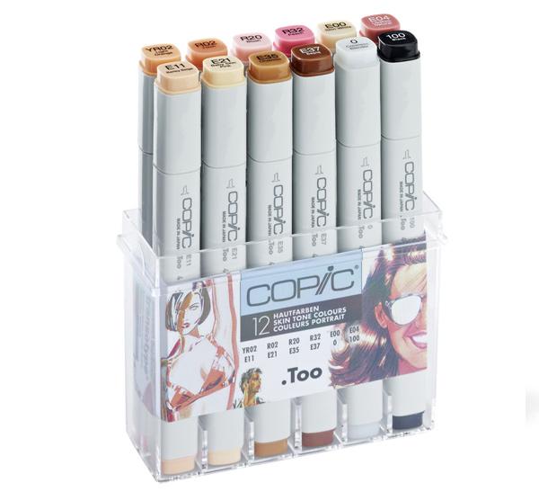 Купить Набор маркеров Copic 12 шт Портрет бежевых оттенков, в пластике, Copic Too (Izumiya Co Inc), Япония