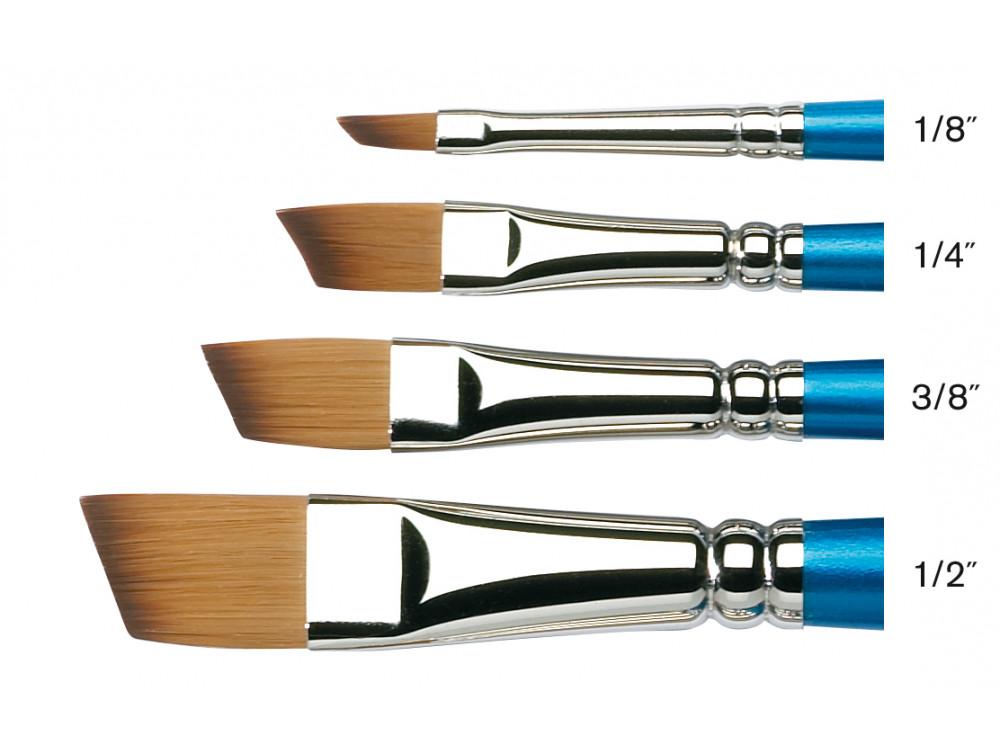 Купить Кисть синтетика № 1/2 скошенная Winsor&Newton COTMAN 667 короткая ручка, Winsor & Newton
