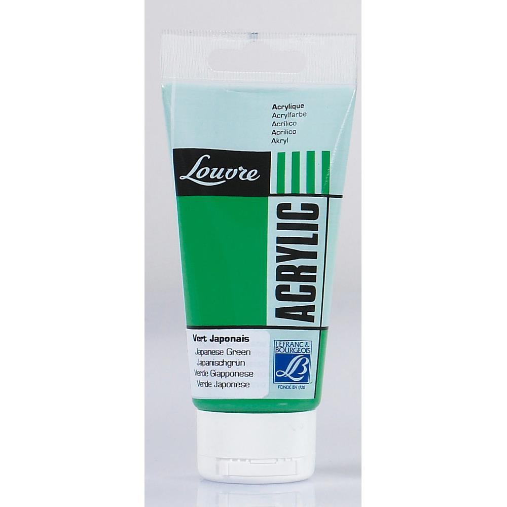 Купить Акрил Lefranc&Bourgeois Louvre 80 мл Зеленый японский, Франция