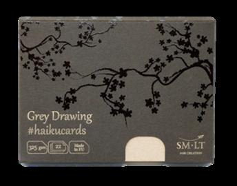 Купить Набор открыток SM-LT Grey Haikucards (серые) 14, 7x10, 6 см 325 г 22 шт, Smiltainis, Литва