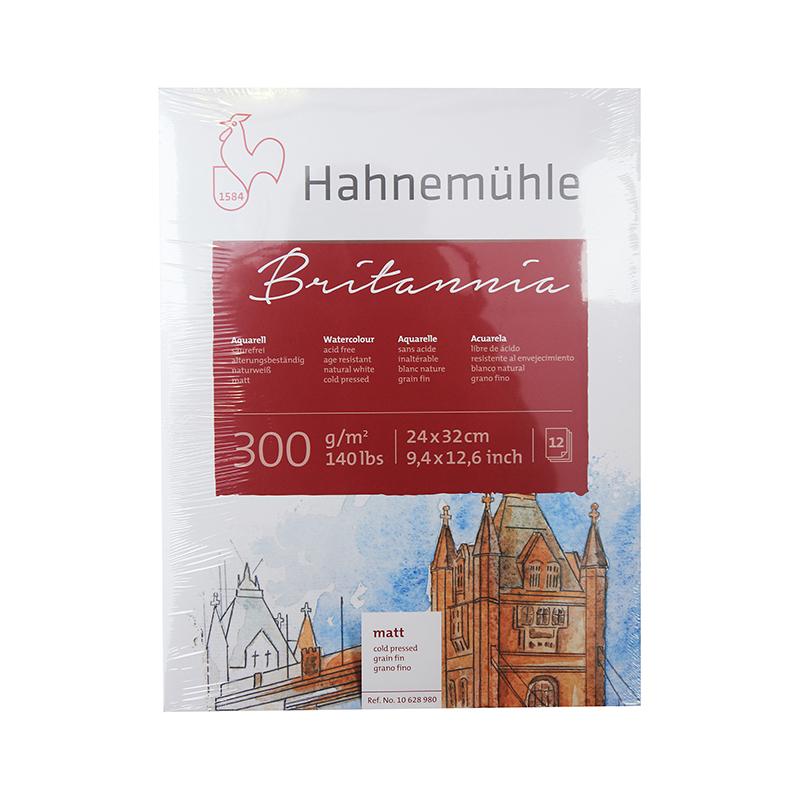 Купить Альбом-склейка для акварели Hahnemuhle Britannia 24x32 см 12 л 300 г, гладкая, целлюлоза 100%, HAHNEMUHLE FINEART, Германия