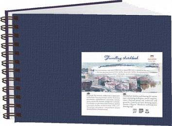 Купить Блокнот для эскизов Лилия Холдинг Travelling sketchbook А5 80 л 130 г Ландшафт синий спираль, Россия