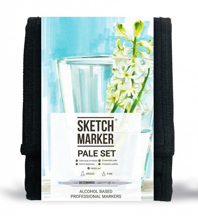Купить Набор маркеров Sketchmarker Pale set 12 шт, Япония