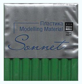 Купить Пластика для запекания Sonnet 56 г Зеленый травяной, Сонет, Россия