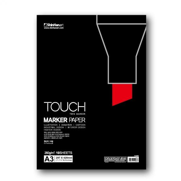 Бумага Touch Marker Paper A3 10 листов 260 г, ShinHan Art (Touch), Южная Корея  - купить со скидкой