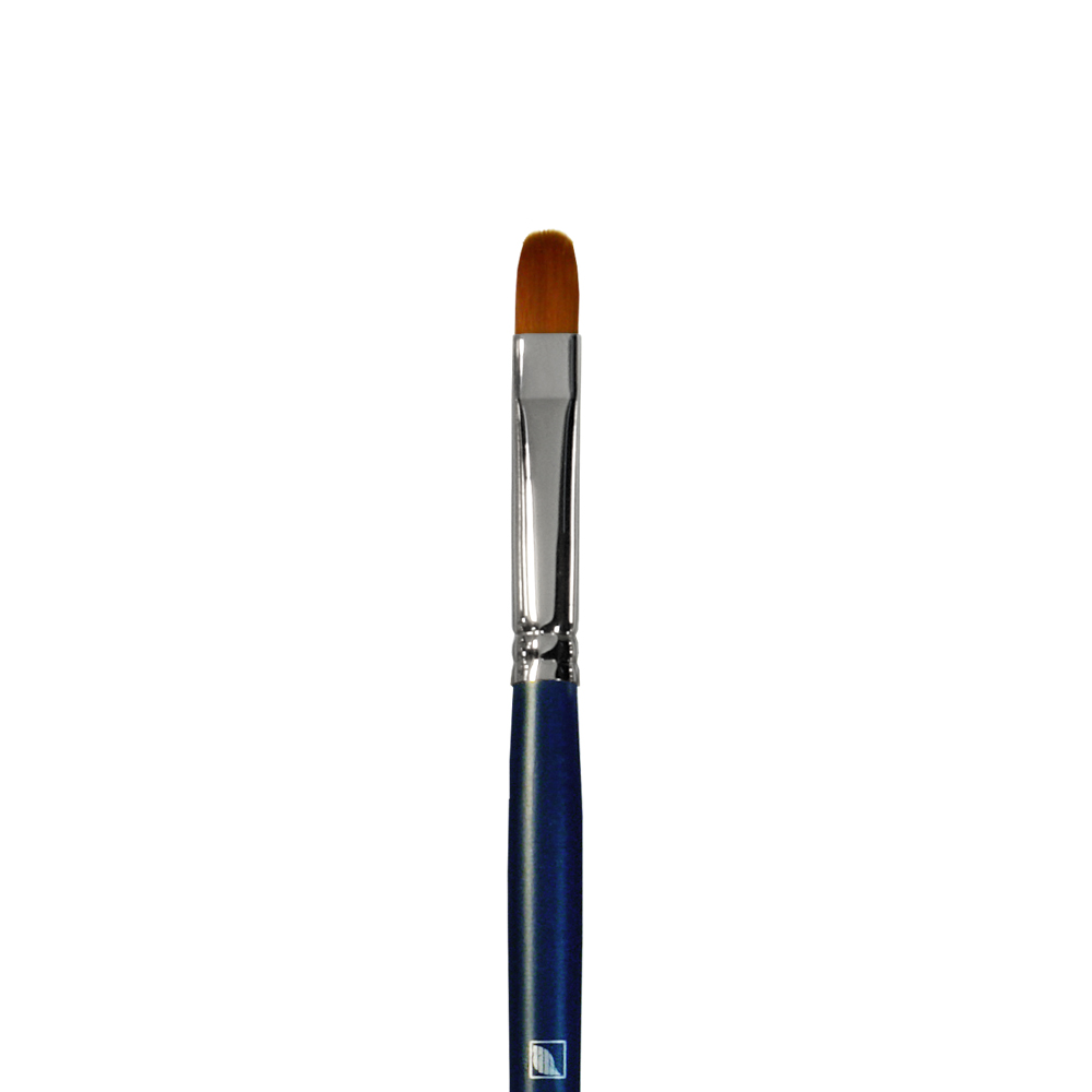 Купить Кисть синтетика №8 овальная Альбатрос Профи длинная ручка, Россия