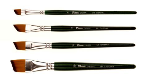 Купить Кисть синтетика №10 скошенная Pinax Creative 349 короткая ручка, Китай