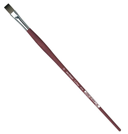 Купить Кисть синтетика №12 плоская Da Vinci 8740 длинная ручка, Германия