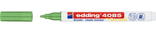 Купить Маркер меловой Edding 4085 1-2 мм с круглым наконечником, зеленый металлик, Германия