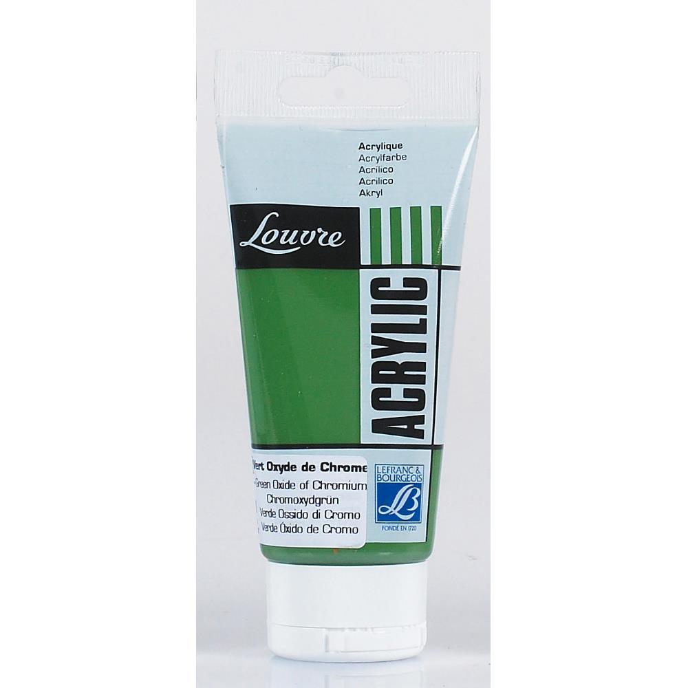 Купить Акрил Lefranc&Bourgeois Louvre 80 мл Зеленый оксид хрома, Франция